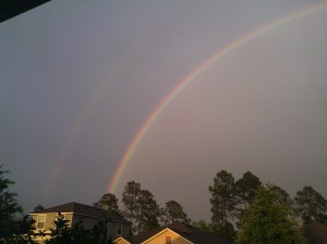 After the storm! Double Rainbow Happiness!