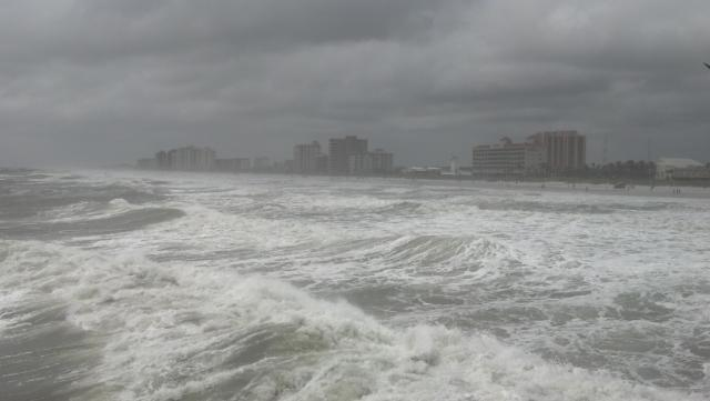 Jax Beaches as Tropical Storm Beryl begins his descent