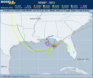 Debby Projections 2012