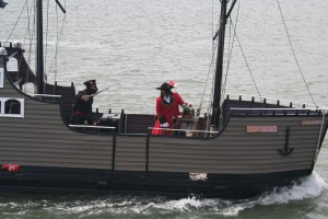 It's Captain Hook AND Blackbeard! Gangin' up on us, I see!
