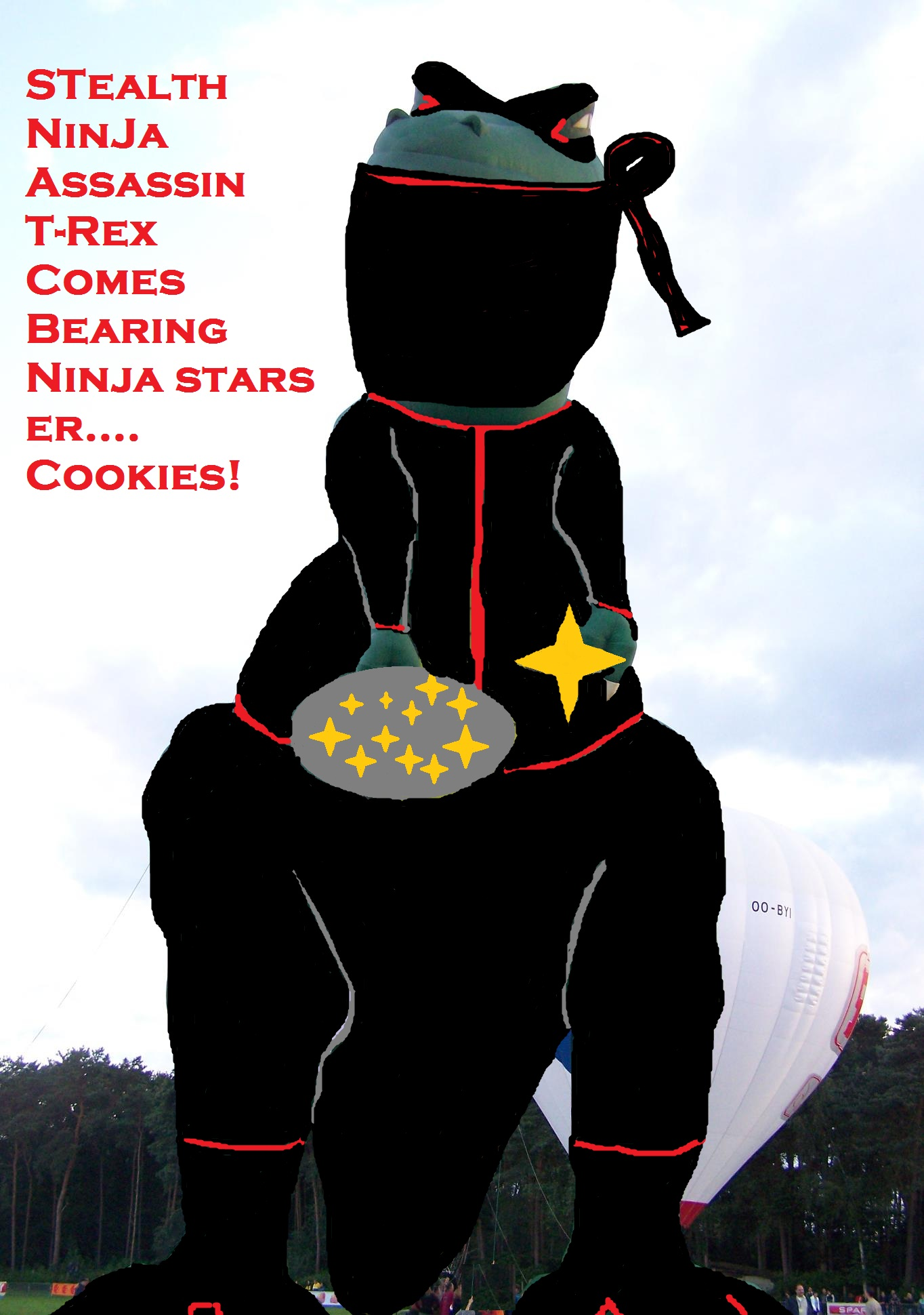Stealth Ninja Assassin T-Rex Dino
