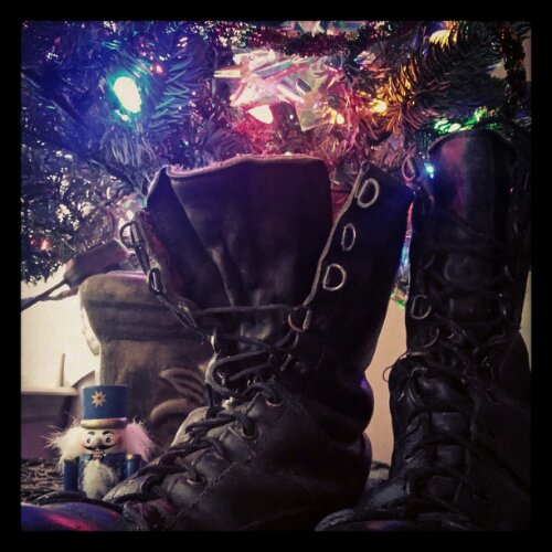 Christmas Army Boots