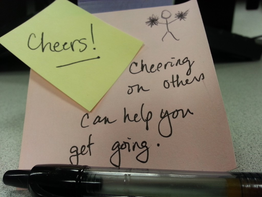 Cheering on others can help get you going! Don't believe me? Check out KTHanna's #WriteMotivation on her blog or Twitter.
