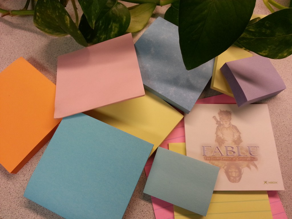 Positive Thinking through Positive Words on Post-it Notes
