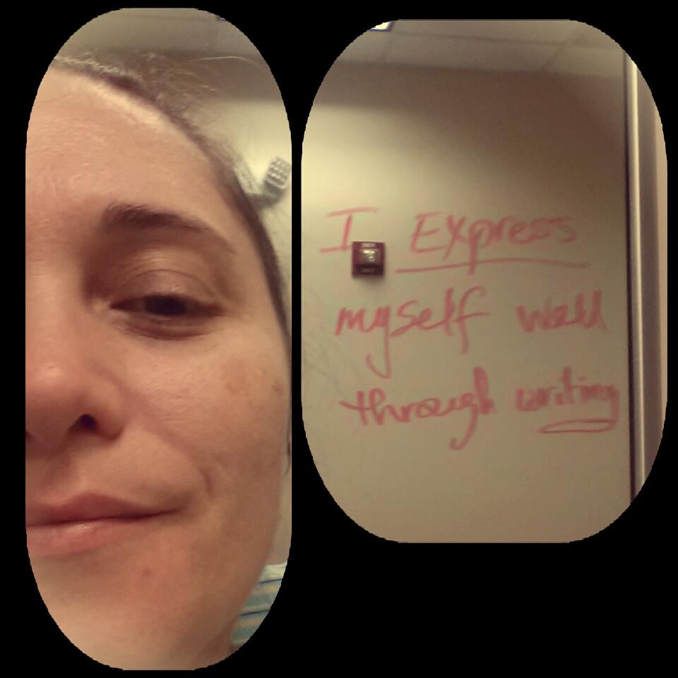 I Express Myself Well Through Writing