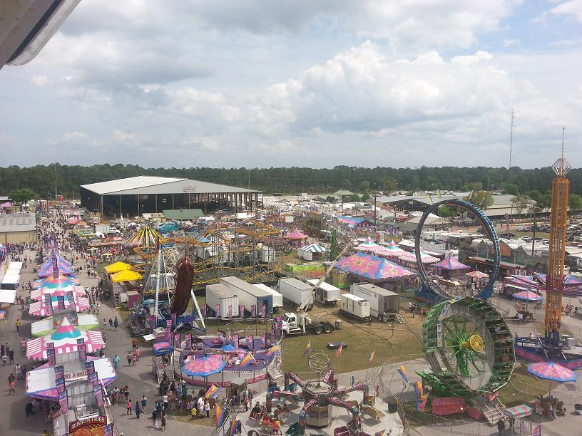 Clay County Fair from the Ferris Wheel