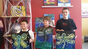 TheBoy & his BFF at Painting with a Twist